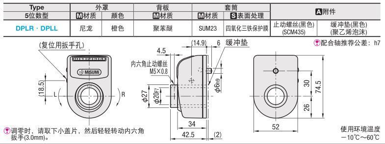 【滿199發貨】代替米思米大型位置顯示器 DPLR/DPLL3/4/5/6