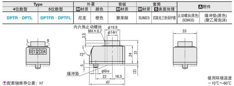 【滿199發貨】代替米思米小型位置顯示器 DPTR/DPTL2/3/4/5/6