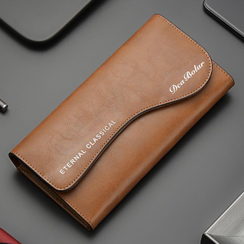 新款錢包男長款復古錢夾男士皮夾大容量多功能青年個性韓版時尚潮
