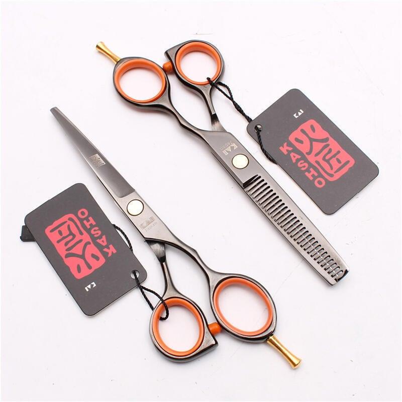 破盤價!!!5.5寸火匠打薄美髮剪刀平剪牙剪兒童髮廊理髮剪子家用工具套裝  .  露天拍賣(可開統編)