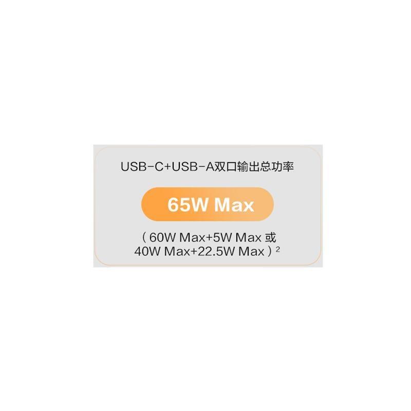 【巷南】華為65W超級快充雙口充電器原裝正品手機平板筆記本耳機手錶通用
