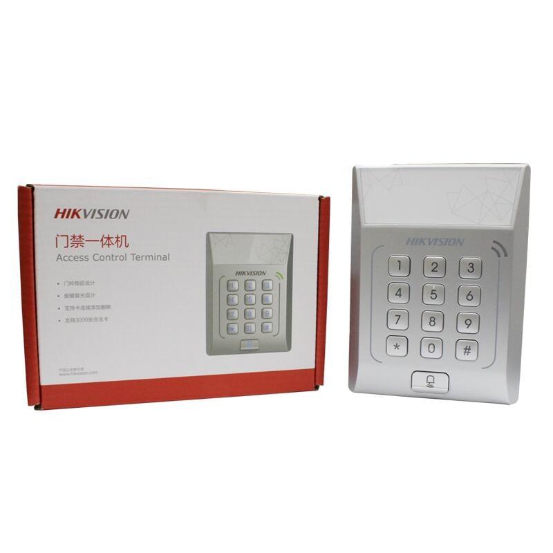 爆款現貨海康單機門禁系統辦公室控制器一體機K1T801 802M刷ID/IC卡密碼網