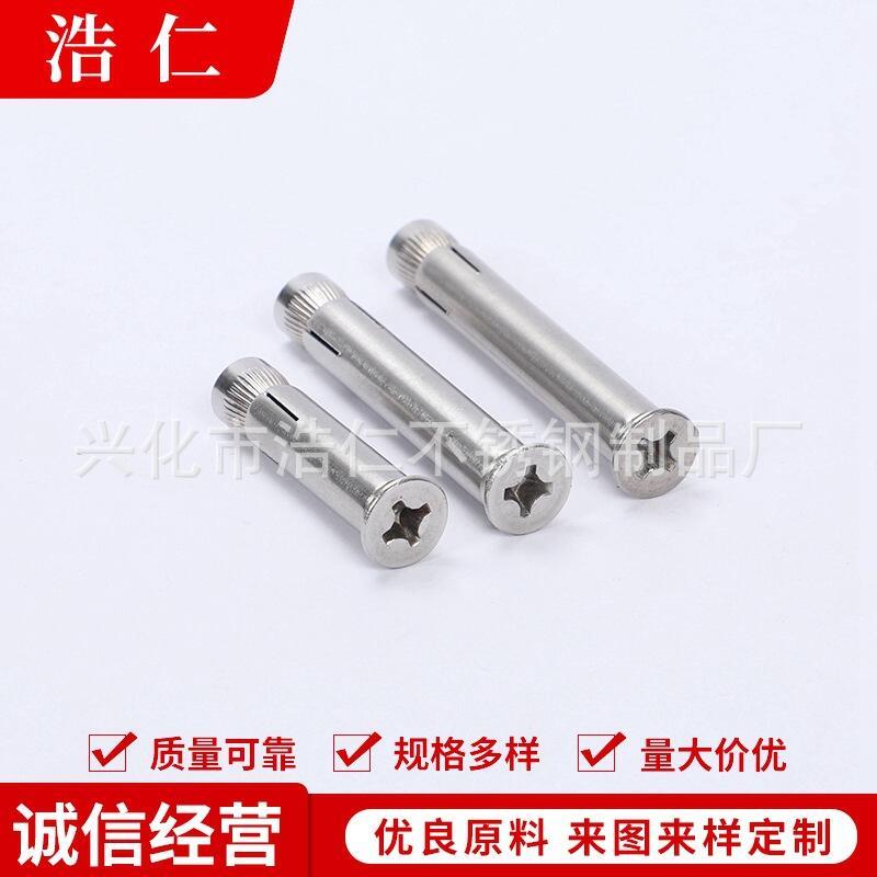 201平頭十字內膨脹 供應 平頭膨脹螺栓 不銹鋼膨脹螺絲