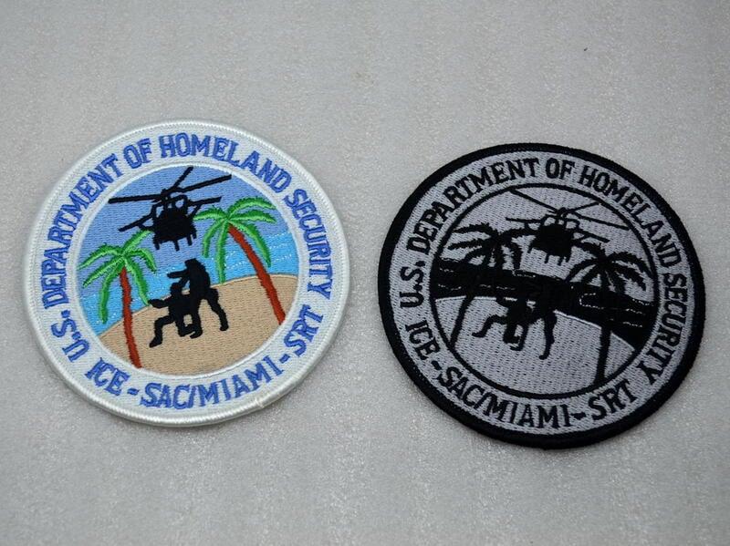【湊夠500下單】美國國土安全部 移民與海關局ICE 邁阿密MIAMI分部 SRT臂章/徽章