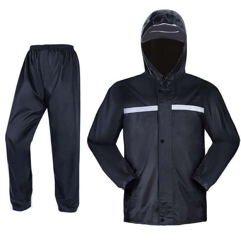 兩件式雨衣 雨衣+雨褲 反光雨衣 外套 機車雨衣 雨衣 防風衣 防水雨衣 輕便雨衣 反光條《雙層無口袋》