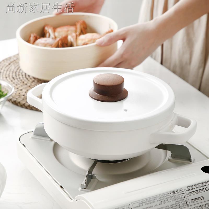 現貨熱銷✥卍日式家用燃氣小砂鍋燉鍋明火耐高溫煲仔飯石鍋煲湯沙鍋小號耐干燒