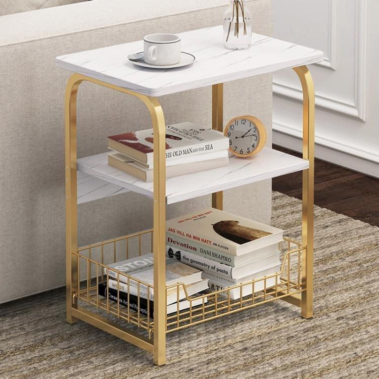 限時8折邊幾沙發邊櫃創意小方桌子臥室小戶型簡約輕奢可移動床頭邊桌茶幾 LX 新品西卡bts愛衣呦