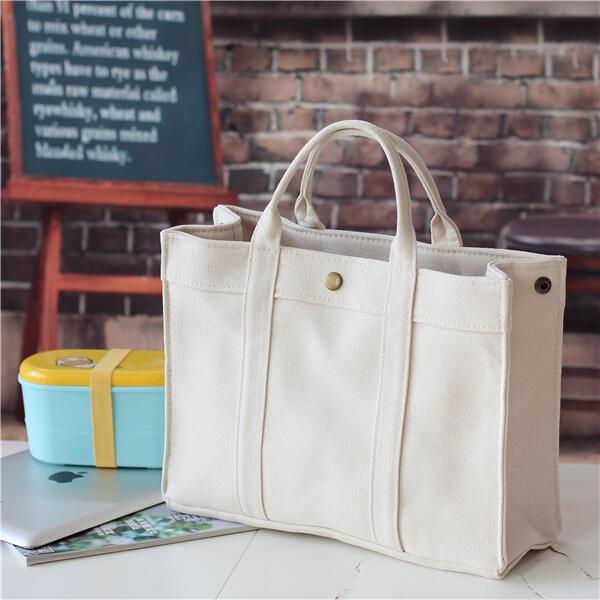 限時8折保溫袋 簡約帶飯盒袋子手提便當包袋大容量帆布手拎包媽咪包日式  降價兩天西卡bts愛衣呦