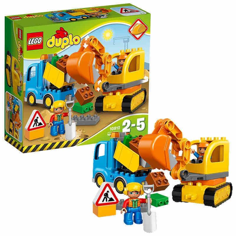樂高得寶卡車和挖掘車套裝10812積木玩具禮物兒童玩具