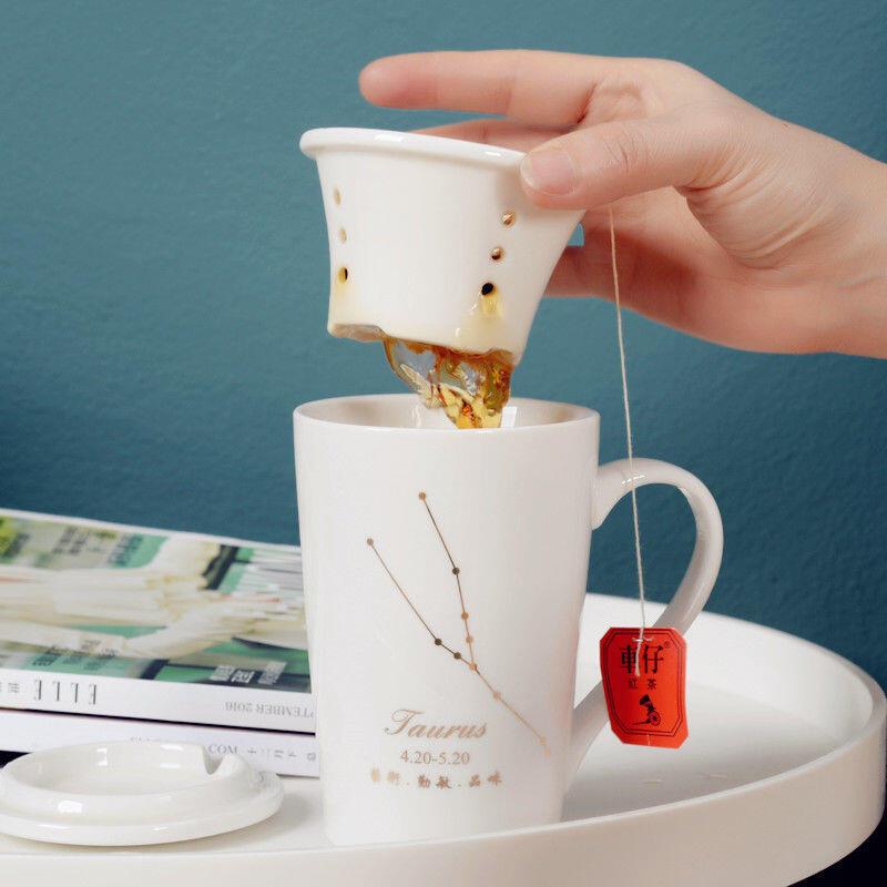 陶瓷馬克杯帶蓋勺創意男女學生情侶水杯辦公室咖啡杯家用杯子茶杯