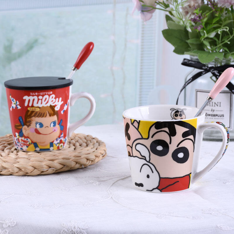 【迪士尼】卡通陶瓷杯  馬克杯 學生可愛韓版ins杯 牛奶杯 咖啡杯