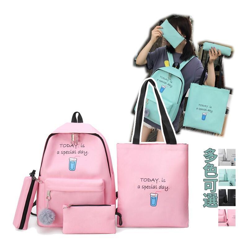 【618精選】♡買一送三♡時尚可愛雙肩包 韓版 原宿Ulzzang 質優多袋 學生背包 書包 後背包 休閒旅遊包包 運動