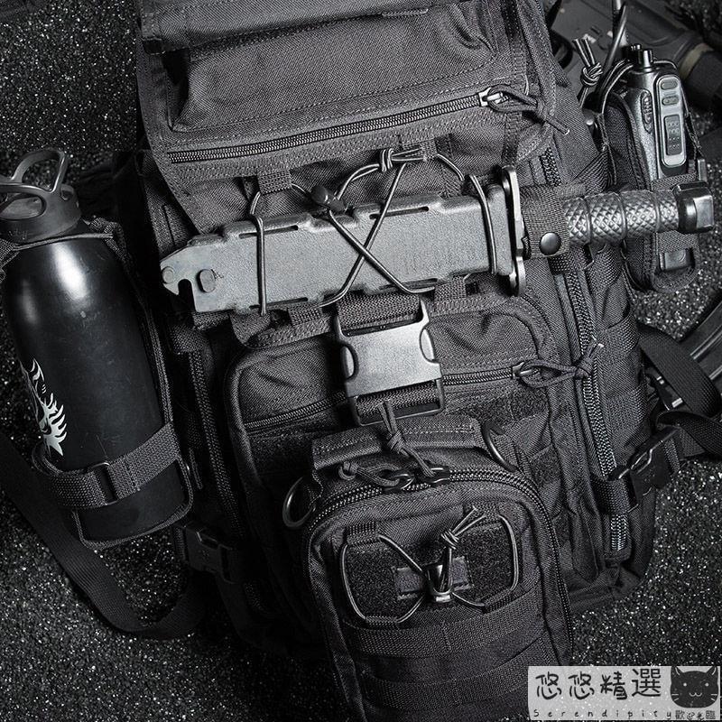 【登山用品】登山背包 戶外X7攻擊戰斗雙肩包單兵水袋包軍迷作戰特種兵男多功能戰術背包