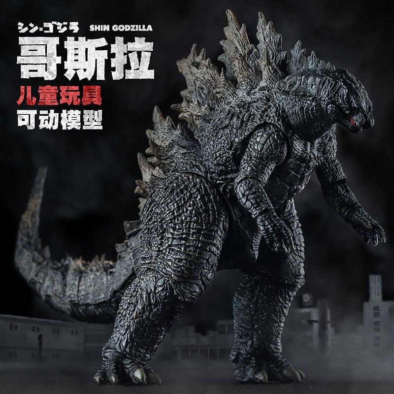 【手辦】哥吉拉 手辦 哥斯拉玩具怪獸之王手辦2021電影核能噴射能量版SHM恐龍模型玩偶