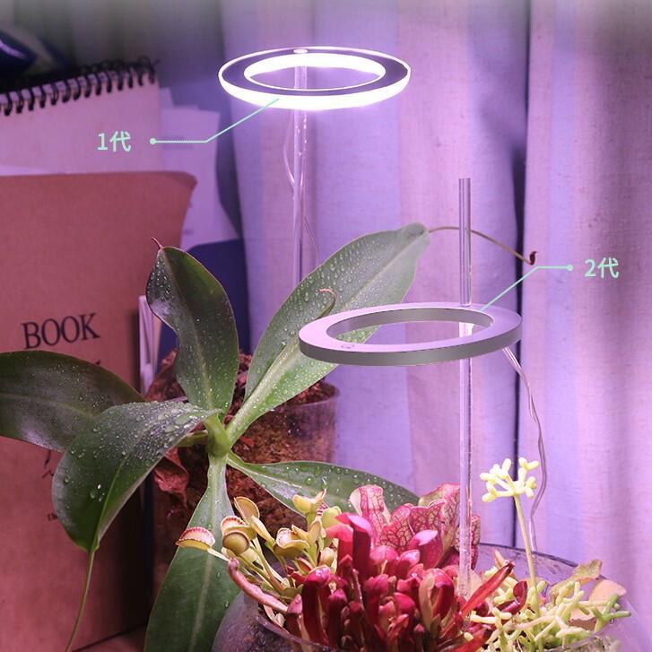 【🎉鵬程燈飾🎉】植物補光燈 植物生長燈 植物燈 二代天使環 單環雙環三環 仿真太陽日照光燈 天使環 定時功能 usb