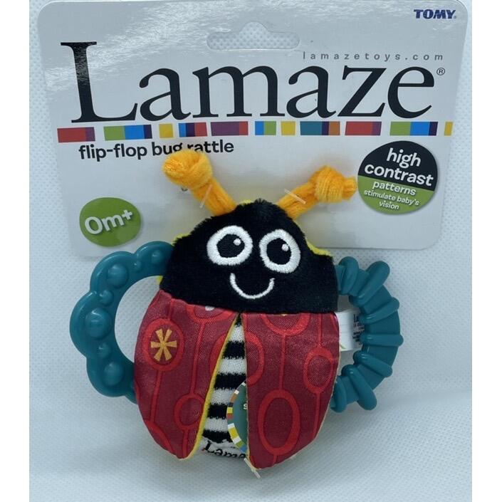 Lamaze(拉梅茲)*小瓢蟲固齒器手搖鈴