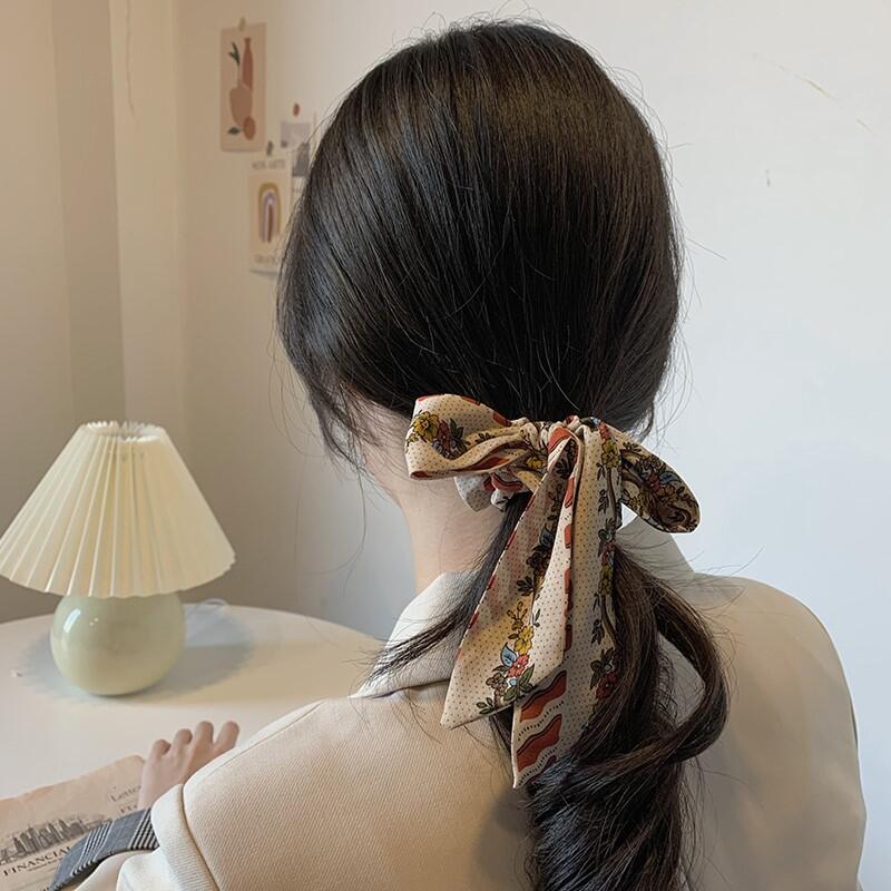 漢服髮飾 腰帶 日系網紅發帶飄帶綁發頭繩超仙女森系蝴蝶結發飾頭飾發繩韓國發圈