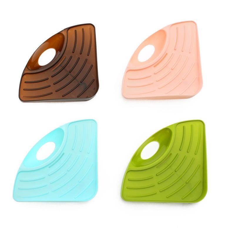 三角架 菜瓜布 鋼刷架 瀝水架 麗水架 廚房收納 吸盤 置物架 瀝水籃