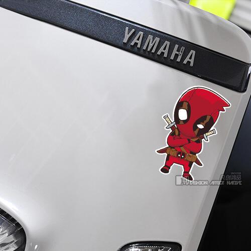 卡通创意搞笑&潮公馆 个性卡通动漫人物武士机车反光装饰贴纸 汽车车身防水贴纸