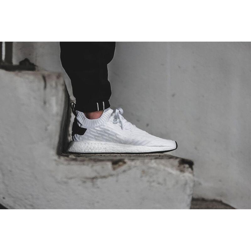 Adidas Originals NMD R2 PK Boost 白黑 熊貓 編織 BY3015 慢跑 雨滴