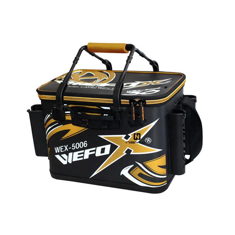 漁具◆熱賣WEFOX 臺灣威狐 WEX-5006 活魚桶 EVA硬式餌料箱磯釣 餌袋釣魚桶