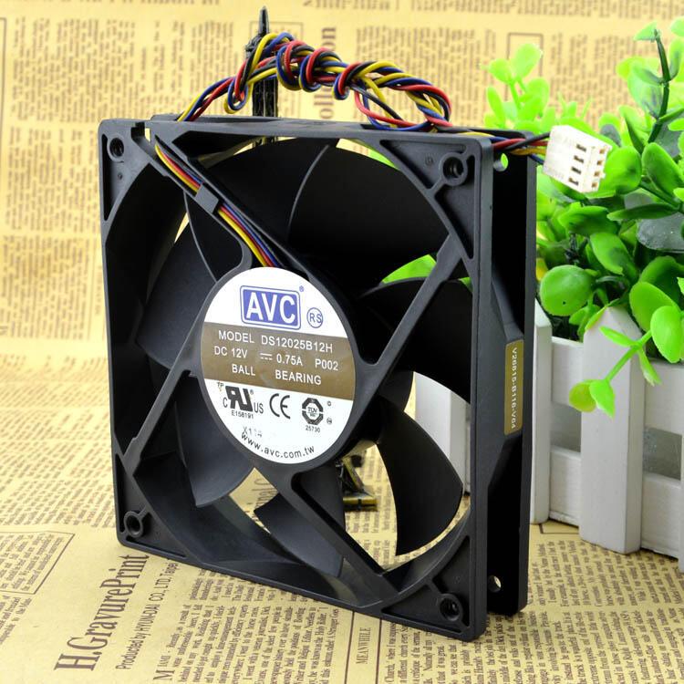現貨臺灣AVC DS12025B12H 12025 12V 0.75A 12CM 支持PWM溫控調速風扇批量優惠