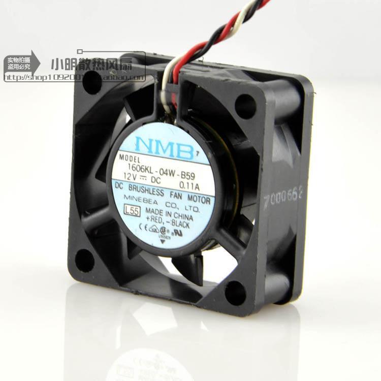 現貨原裝NMB美培亞4015 雙滾珠散熱風扇12V 0.11A 1606KL-04W-B59三線批量優惠