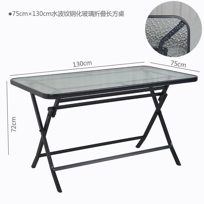 【免運】折疊桌餐桌圓桌休閑桌方桌戶外休閑桌餐椅桌鋼化玻璃桌子長方桌【金馬桌具】