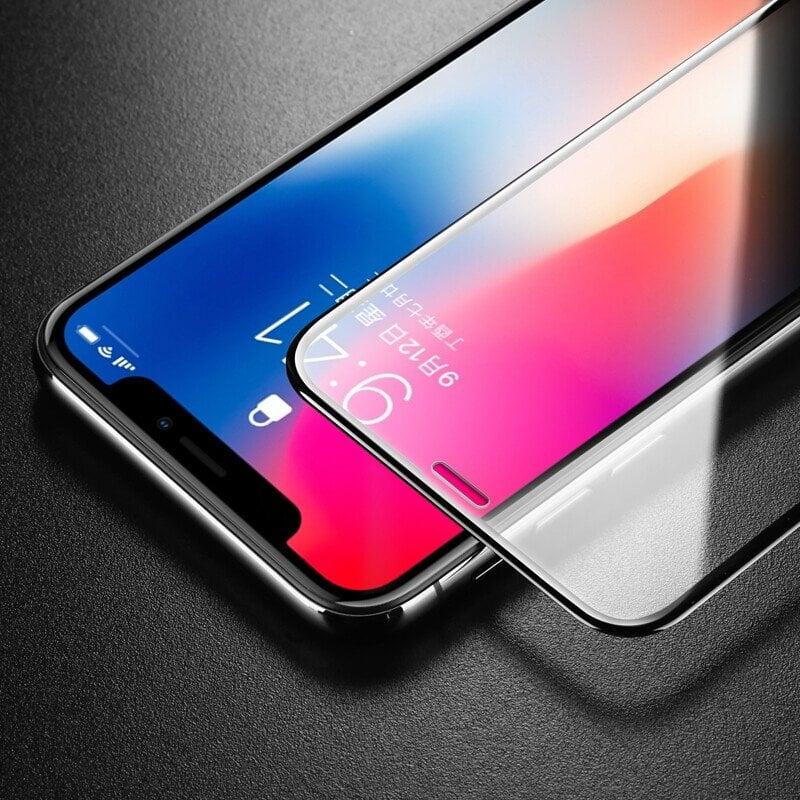免運可開發票SkinAT 手機11鋼化膜iphone12ProMax玻璃蘋果13全覆蓋屏幕保護膜XR 鋼化膜 iPhon