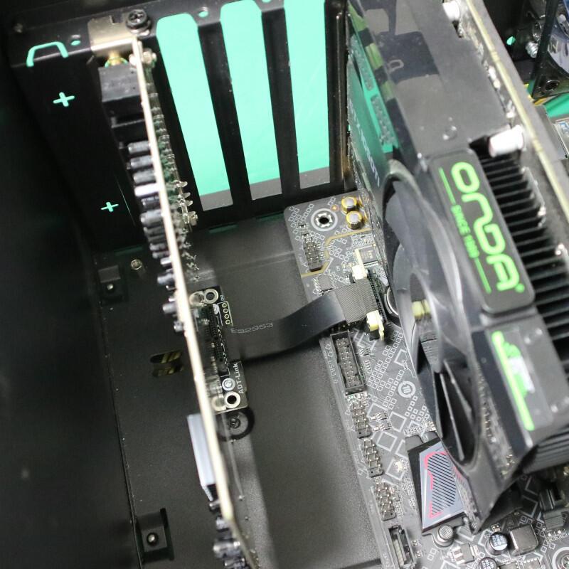 ADT聲卡延長線雙直角90度抗干擾 無需供電PCI-E3.0x1無線網卡 ADT