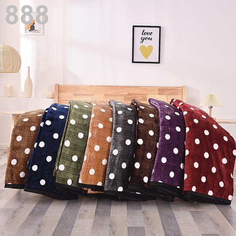 【購】歐式絨毯波點學生毛毯公司禮品毯沙發毯珊瑚絨毯子法蘭絨毛