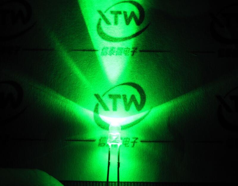 【緣來】F3發光管LED 3MM 綠色 白發翠綠 綠光 透明燈體 長腳高亮 一包50