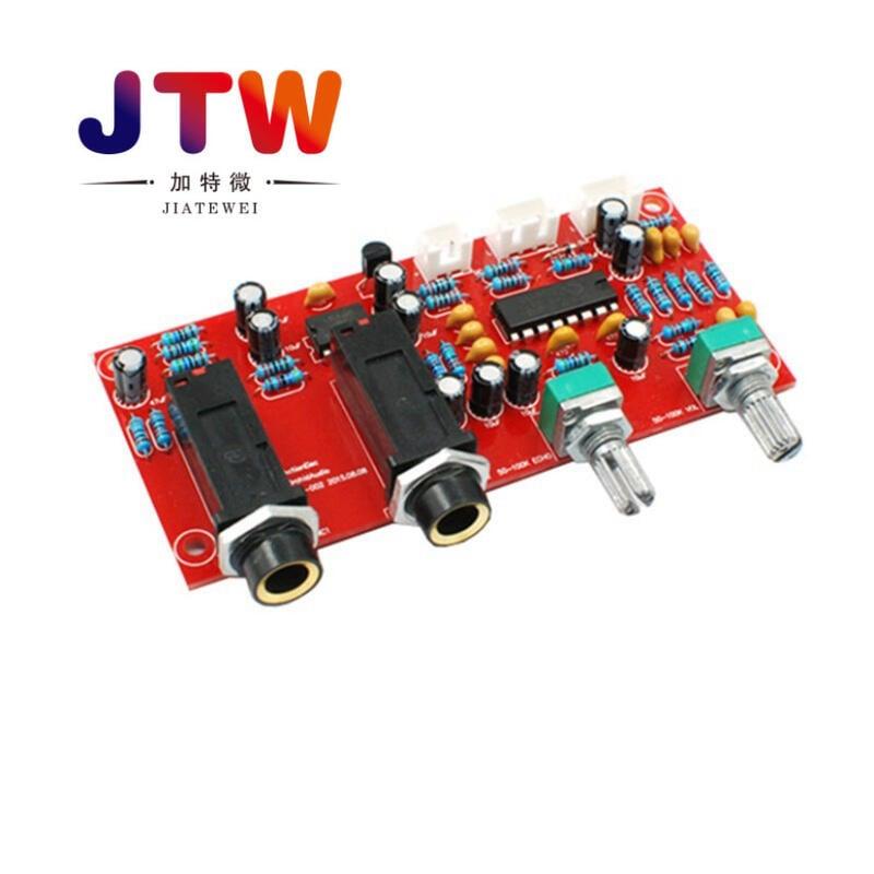 【緣來】PT2399麥克風放大板數字卡拉OK混響板數碼回音板成品板