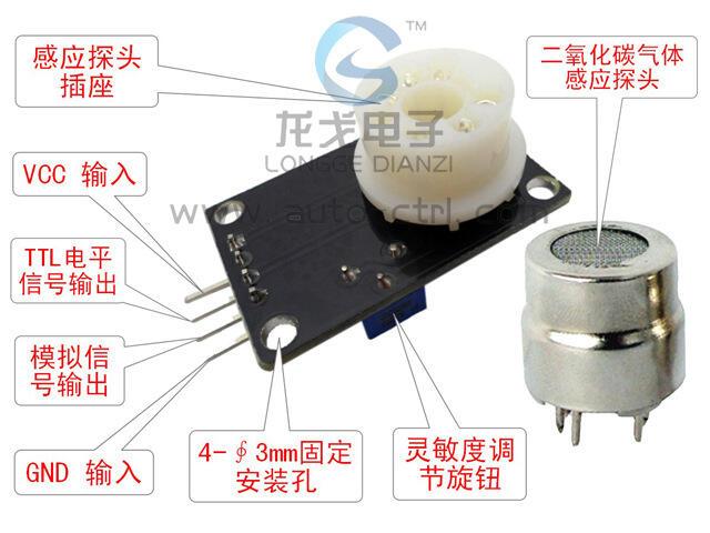 【緣來】CO2二氧化碳傳感器模塊 MG811 電壓型0-2V電壓輸出