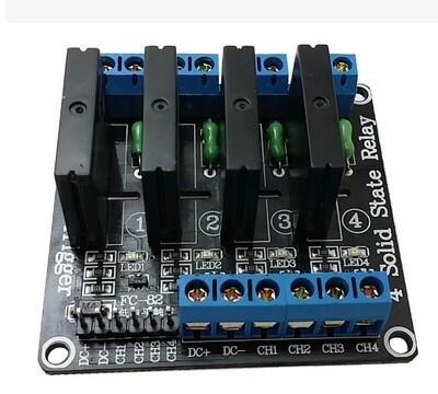 【緣來】熱賣4路5V高電平固態繼電器模塊 帶保險絲 固態繼電器250V2A