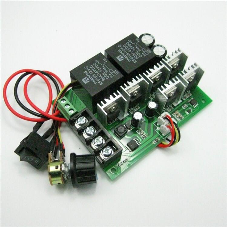 【緣來】PWM電子直流調速器 12V24V36V48V 有刷馬達正反轉模塊 電機倒順器