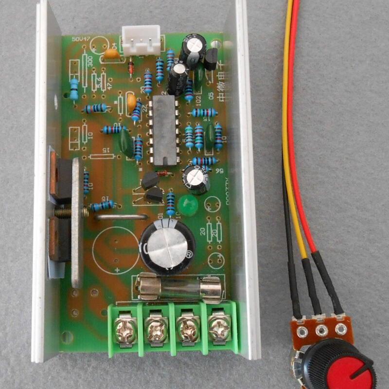 【緣來】6V 12V 直流電機無極調速器 PWM驅動器 脈寬調速板 馬達調速10A