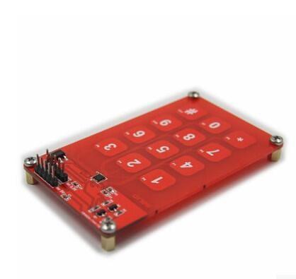 【緣來】MPR121電容觸摸板模塊 3×4 12按鍵 3.3V或5V邏輯 51代碼