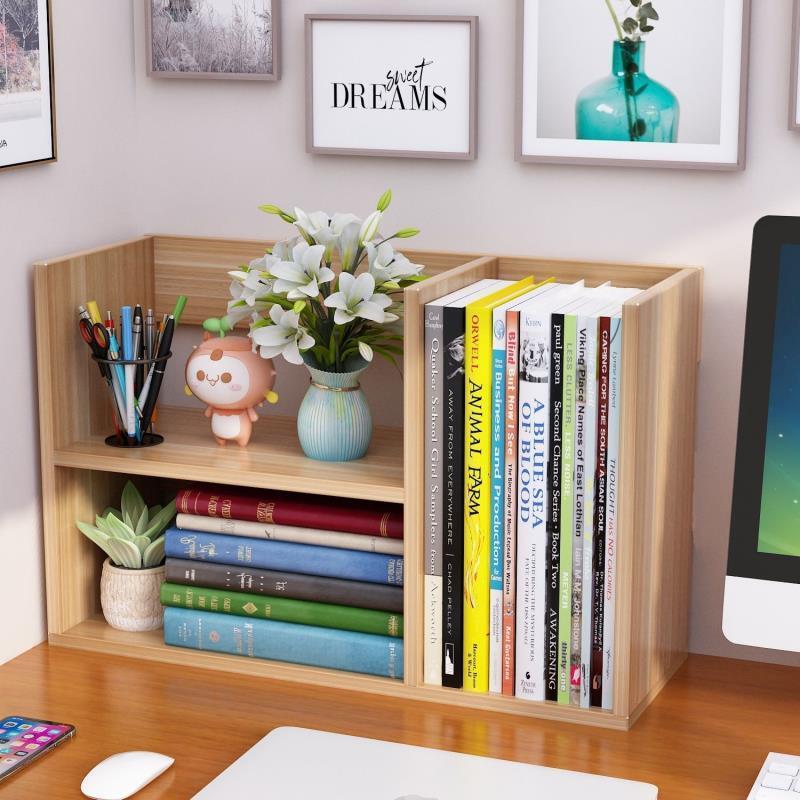 桌上書架簡易兒童桌面小書架學生用置物架辦公室收納