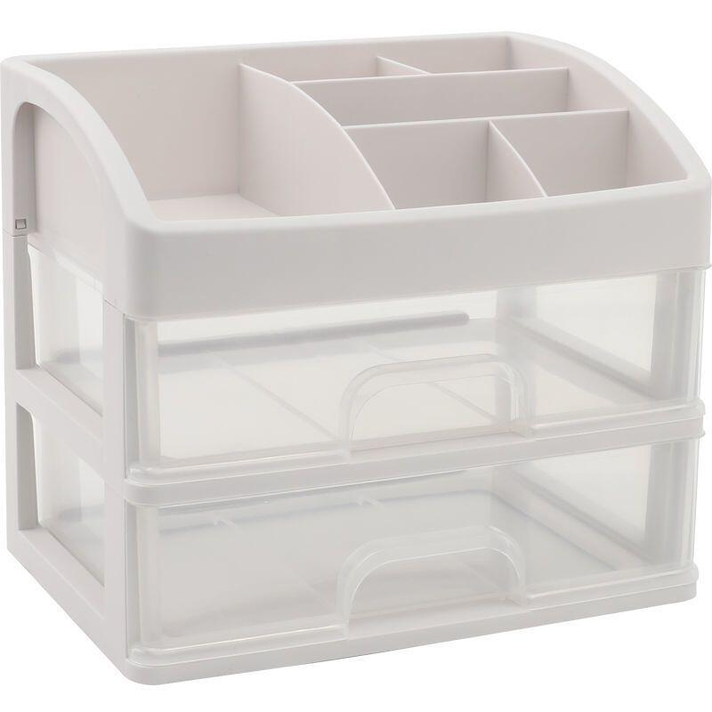 桌面收納盒透明抽屜式化妝護膚品學生宿舍整理分多層