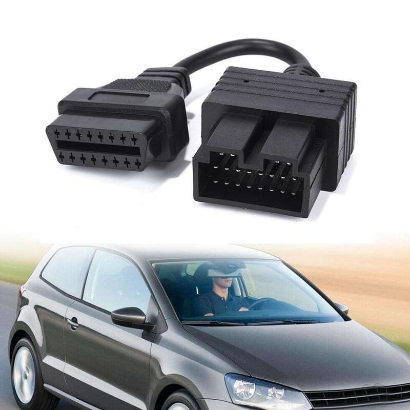汽車 20 針 Obd1 至 16 針 Obd2 適配器母車診斷適配器電纜, 用於起亞 20cm