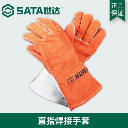 世達工具直指焊接手套牛皮耐磨工業隔熱焊工手套 電焊焊接FS0105