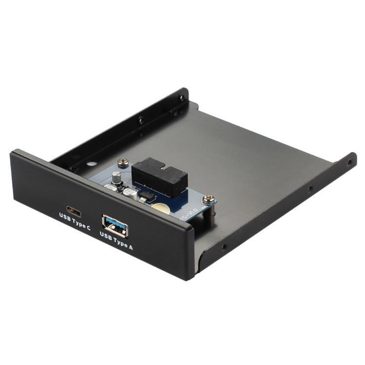 精品全新USB3.1 Type-C軟驅位前置面板USB3.0 AF+C母口電腦擴展3020速發現貨熱賣