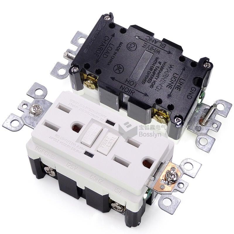 出口型漏電斷路器 美標雙聯墻壁插座 美式家居用品電源插座gfci