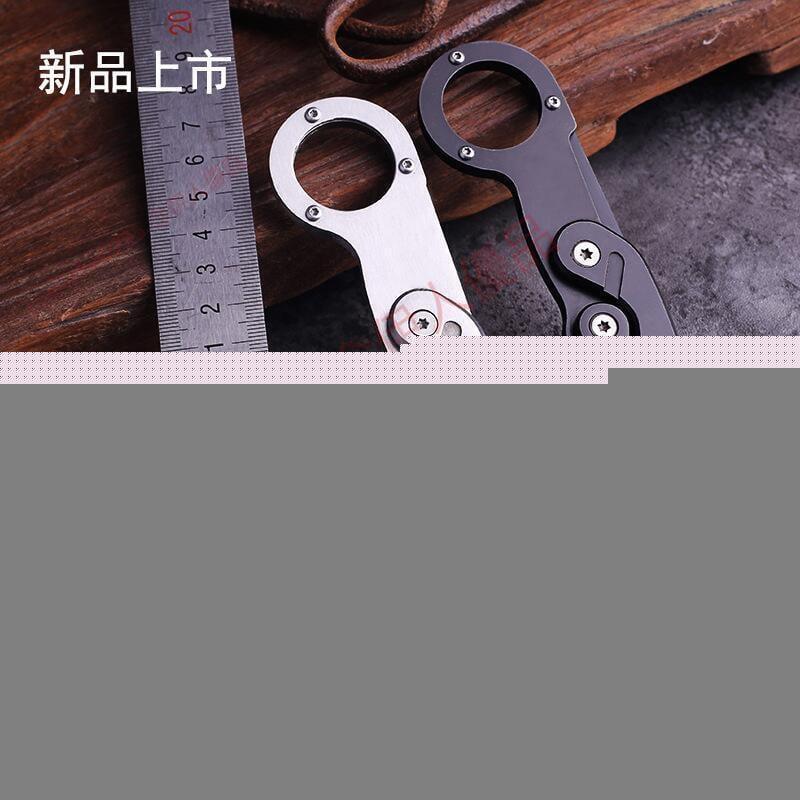機械爪刀隨身戶外刀具野營求生高硬度多功能全鋼爪子折疊刀戶外刀[國際購]