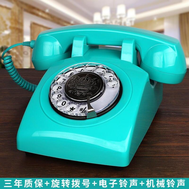 無線插卡電話機座機電信移動聯通復古仿古電話機歐式旋轉家用固話[]  露天拍賣