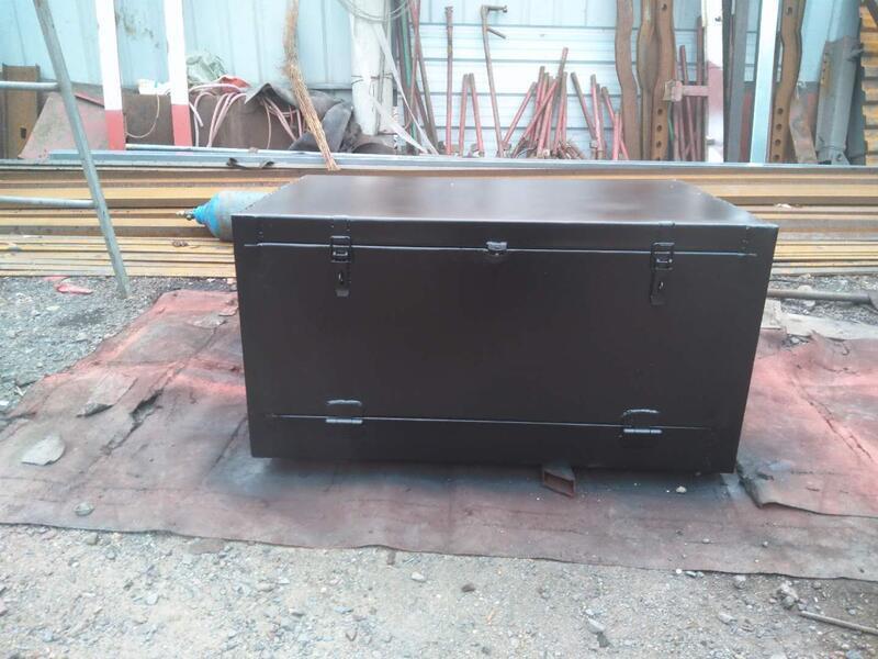 熱銷.中大型貨車加裝外掛工具箱定做車用儲物箱大空間方型加厚鐵箱防銹  露天拍賣