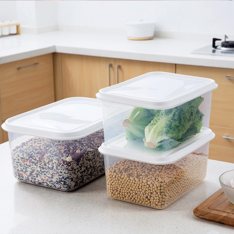 廚房冰箱保鮮盒 家用食物帶蓋密封盒分裝塑料盒蔬菜水果收納盒子