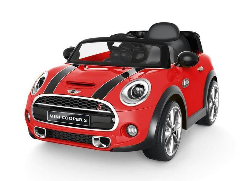 618下殺MINI COOPER S-原廠授權-皮椅款-兒童(附遙控)雙驅電動車(紅色藍色白色)F56
