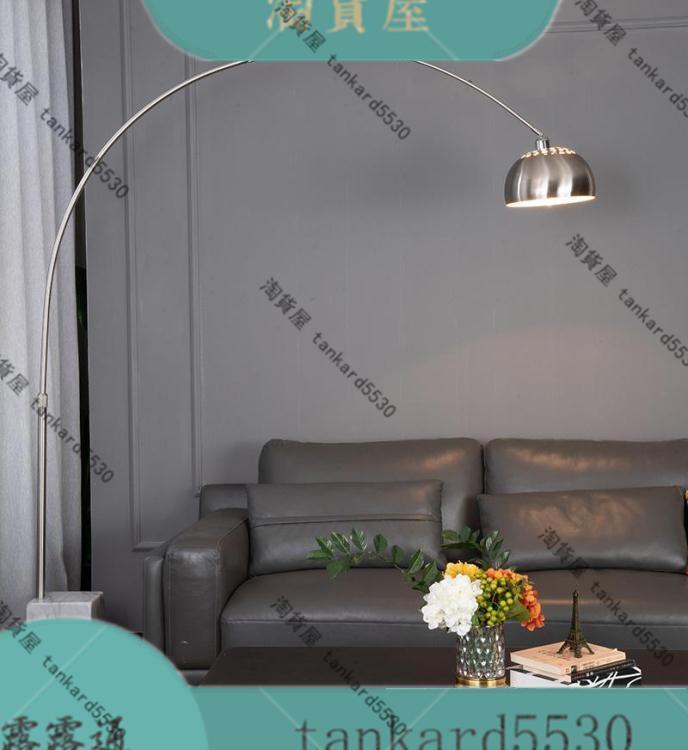 落地燈 現代簡約創意個性客廳沙發別墅展廳大理石搖控麻將台大氣落地燈具 風馳